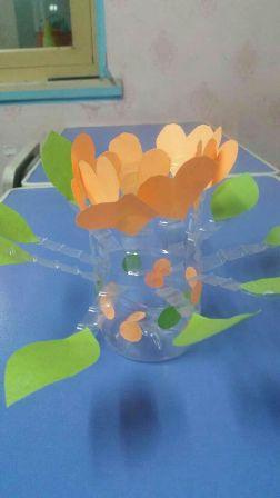 幼儿园手工制作矿泉水花瓶